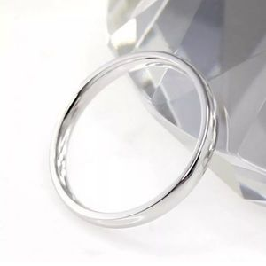 Other - Polished Stainless Steel 4mm Ring/Band Size: 7